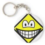 Diamond smile Shape  keychains