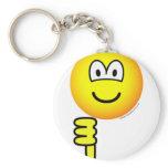 Thumb down emoticon   keychains