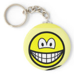 Post-it note smile   keychains