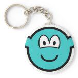 Colored buddy icon azure  keychains