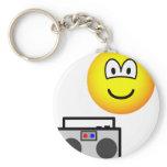 Boom box radio emoticon   keychains
