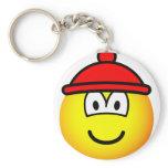 Bobble hat emoticon   keychains