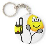 Heart defibrillator emoticon   keychains
