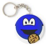 Cookie monster emoticon   keychains