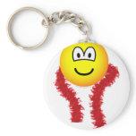 Feathered boa emoticon   keychains