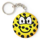 Cheetah emoticon   keychains