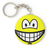 Chin dimple smile   keychains