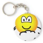 Cloud # nine emoticon   keychains