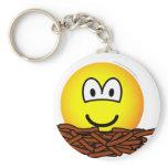 Birds nest emoticon   keychains