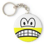 Half empty smile Pessimist  keychains