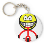 Tricycle smile Riding  keychains