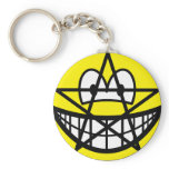Pentacle smile   keychains