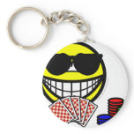Poker smile sunglasses  keychains
