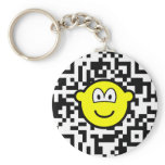 Qr Code buddy icon 2D barcode  keychains