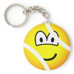 Tennisball emoticon   keychains