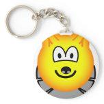 Wolf emoticon   keychains