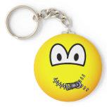 Zipped up emoticon   keychains