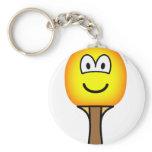 Table tennis bat emoticon   keychains