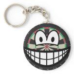 Dartboard smile   keychains
