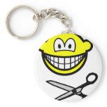 Cutting smile scissors  keychains
