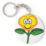 Pansy emoticon   keychains