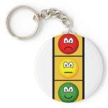 Traffic light emoticon happy - neutral - sad  keychains