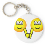 Holding hands emoticons   keychains