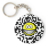 Qr Code smile 2D barcode  keychains