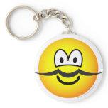 Mustache emoticon   keychains