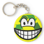 Recycle smile   keychains