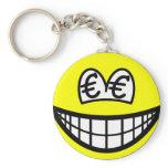 Euro eyed smile   keychains