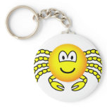 Cancer emoticon Zodiac sign  keychains