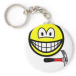Hammer and nail smile   keychains