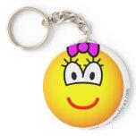 Baby girl emoticon   keychains