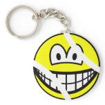 Tennisball smile   keychains
