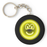 Neon light emoticon   keychains
