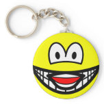 Laughing smile   keychains