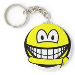 Yellow belt smile   keychains