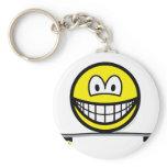 Skateboarding smile   keychains