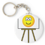Painted emoticon   keychains