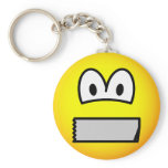 Duct taped mouth emoticon   keychains