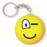 Wink emoticon   keychains