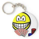 Poker smile   keychains
