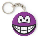 Colored smile violet  keychains