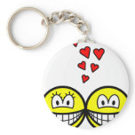 Two Smilies in love   keychains