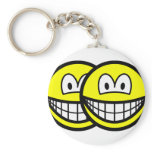 Gemini smile Zodiac sign  keychains