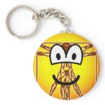Vitruvian Man emoticon Da vinci  keychains