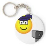 Lazer gun cop emoticon   keychains