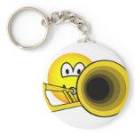 Trombone emoticon   keychains