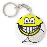 Tennis smile   keychains